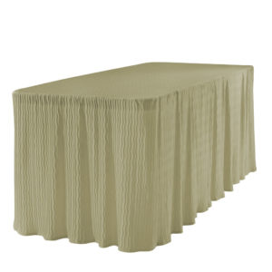 6 foot champagne rectangular table cloth