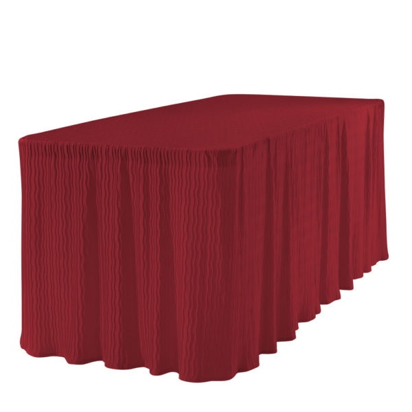 6 foot red rectangular table cloth