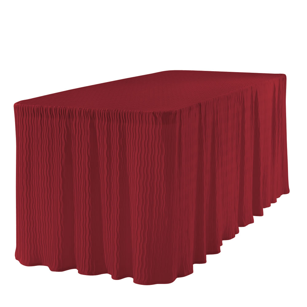 6 Foot Red Table Cloth Made For Folding Tables