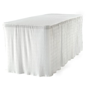 6 foot white rectangular table cloth