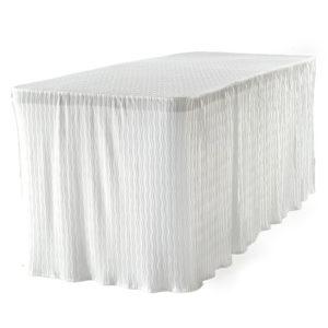 6 foot white rectangular table cloth