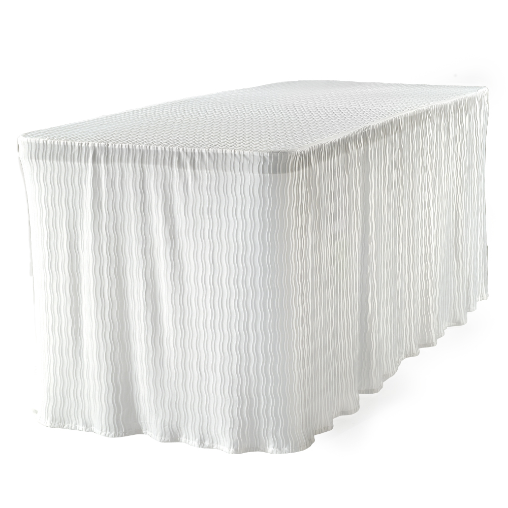 6 Foot White Table Cloth Made For Folding Tables