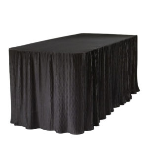 6 foot black rectangular table cloth