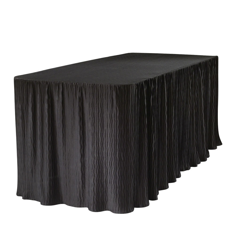 6 Foot Black Table Cloth Made For Folding Tables