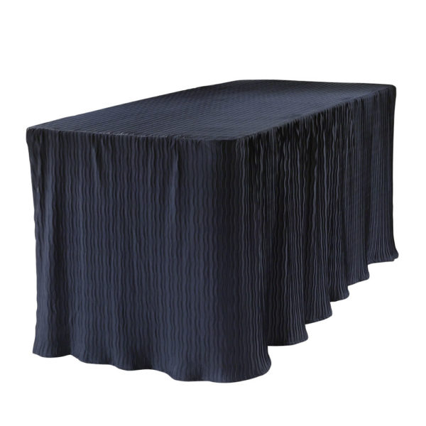 6 foot navy rectangular table cloth