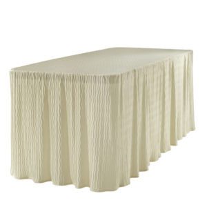 6 foot natural rectangular table cloth