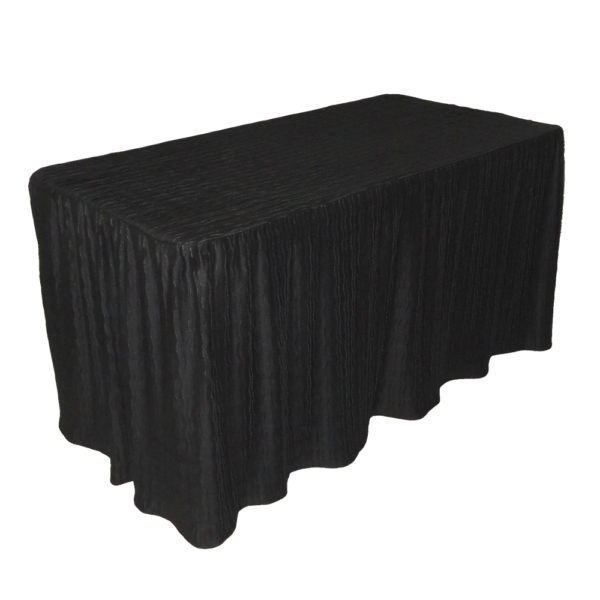 4 foot black rectangular table cloth