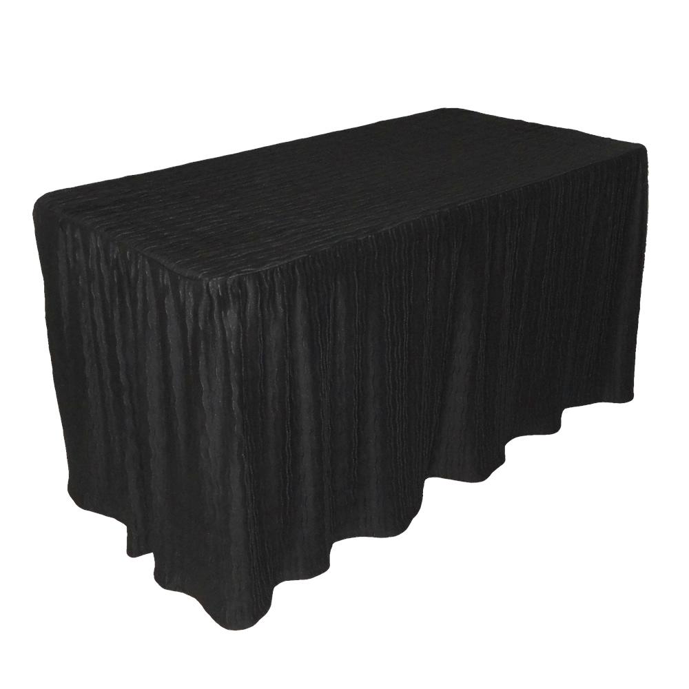 8 foot black table cloth made for folding tables. Black Bedroom Furniture Sets. Home Design Ideas