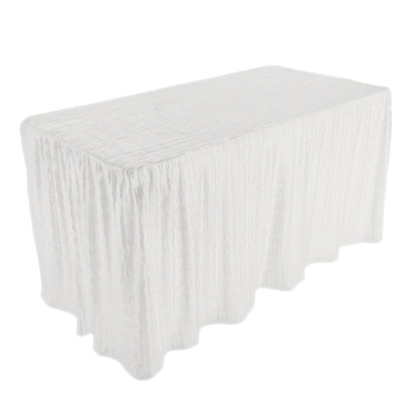 4 foot white rectangular table cloth