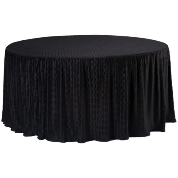 60 Inch Round black Tablecloth