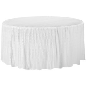 60 Inch Round white Tablecloth