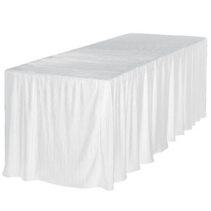 8 foot white rectangular table cloth