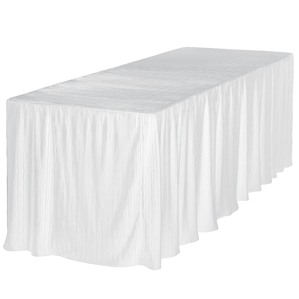 8 foot white table cloth made for folding tables. Black Bedroom Furniture Sets. Home Design Ideas