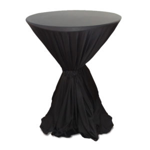 Bistro black tablecloth