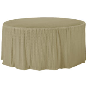 60 Inch Round Champagne Tablecloth