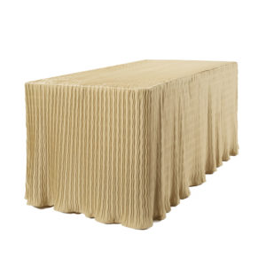 6 foot gold rectangular table cloth